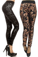 Yelete Fleece Leggings - Foil Print - 4 colors