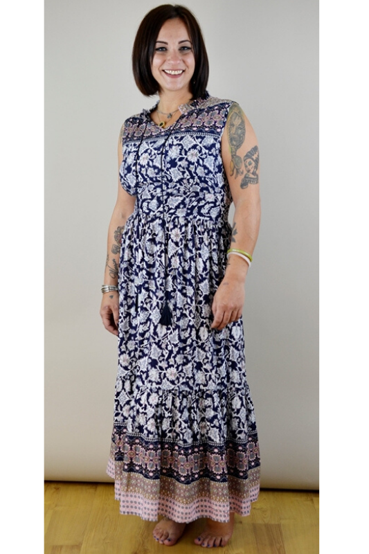 Should I Tell Maxi Dress - Navy
