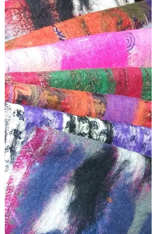 Silk/Wool Upcycle Nepal Sari Scarves