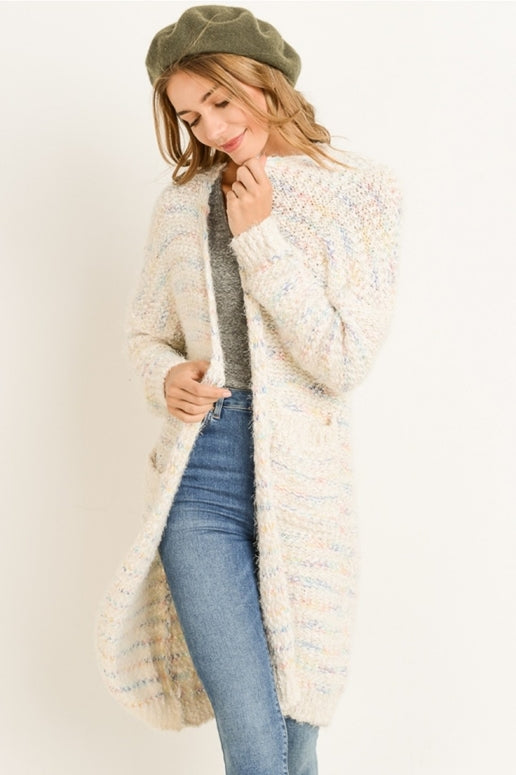 Gilli Soft as Petals Chenille Cardigan Sweater