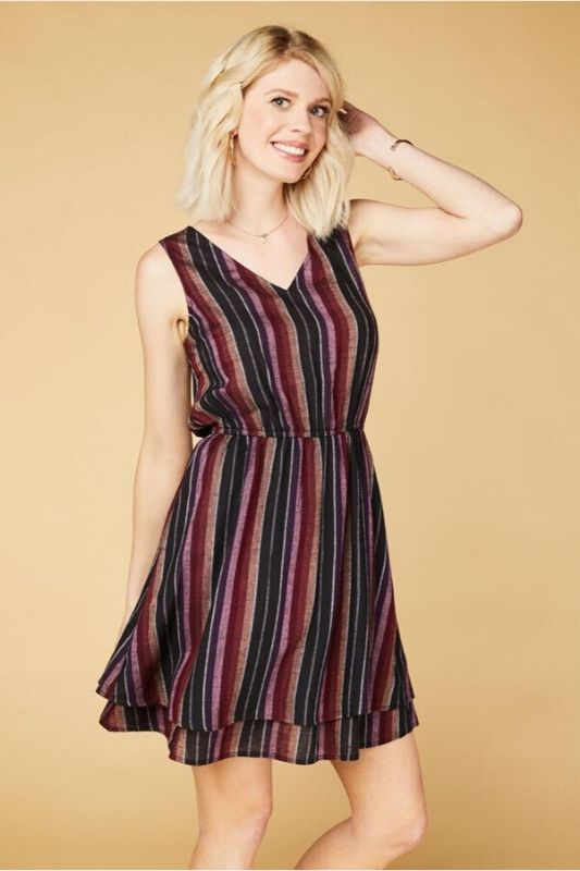 Sandy & Sid Striped Dress