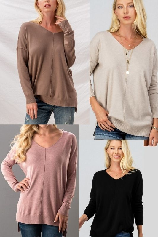 Super Soft Tunic Pullover - Many colors