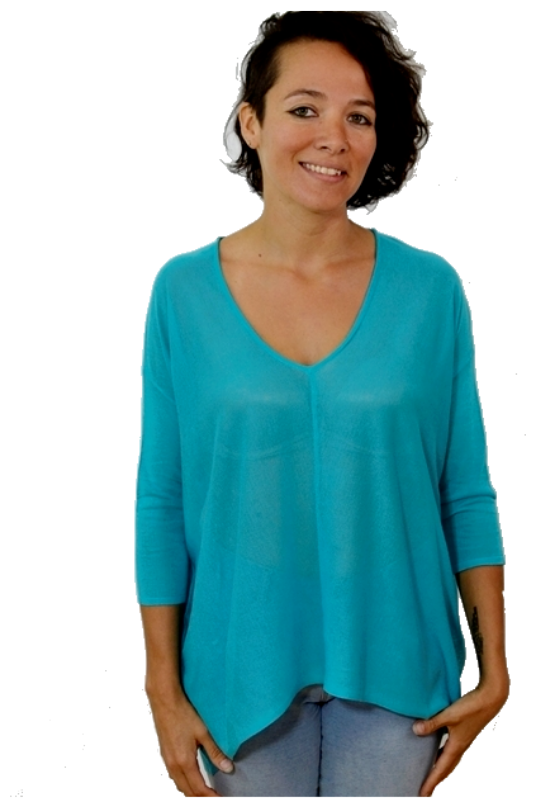 Kerisma Raven II Sheer Knit Top - Turquoise