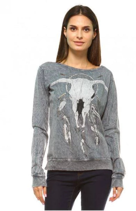 Longhorn Dreamcatcher Rustic Top - Urban X - Charcoal Grey