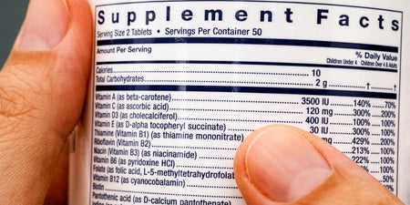Vitamin D and Folic Acid Label Changes