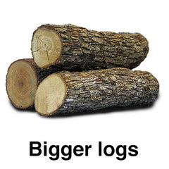 Fats are like logs in a campfire