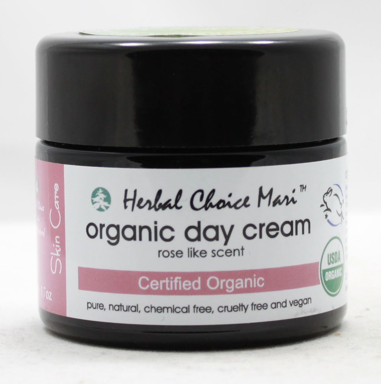 Organic Day Cream - Rose - 1.7 oz Jar