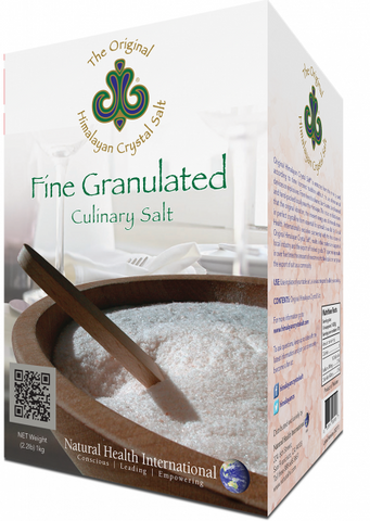 Himalayan Fine Granulated Culinary Salt - 2.2 lb Granules