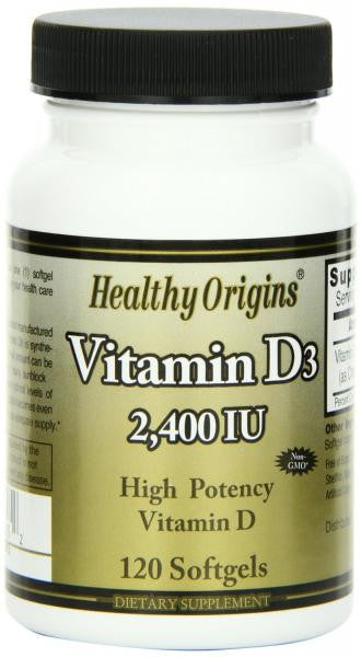 Healthy Origins Vitamin D 2,400 I.U. - 120 Softgels