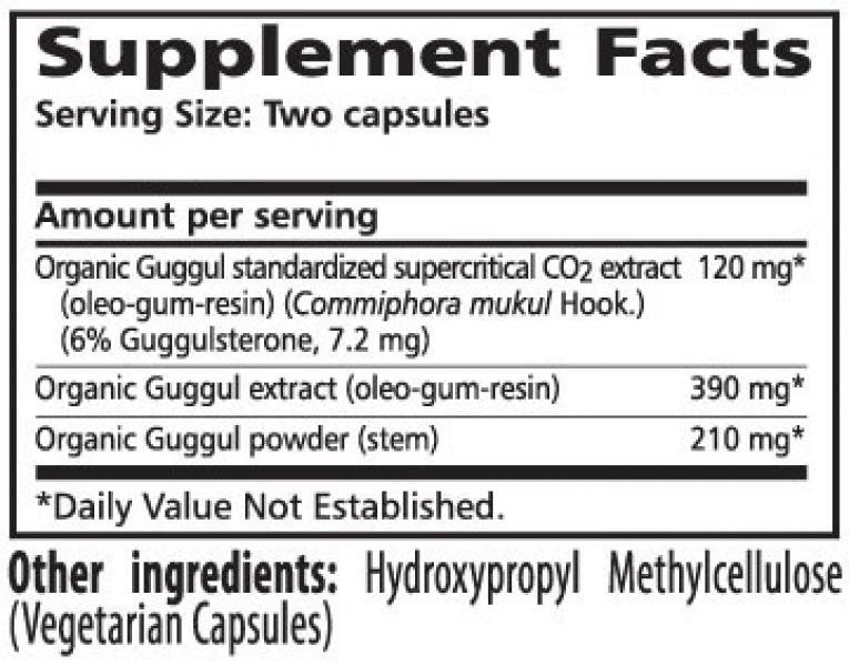 Himalaya Guggul - 60 Capsules Supplement Facts