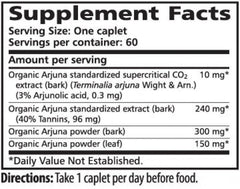 Himalaya Arjuna - 60 Caplets Supplement Facts