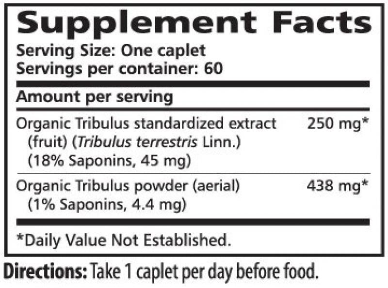 Himalaya Tribulus - 60 Caplets Supplement Facts