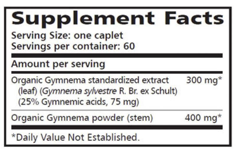 Himalaya Gymnema - 60 Caplets Supplement Facts