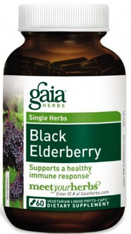 Gaia Black Elderberry - 60 Capsules