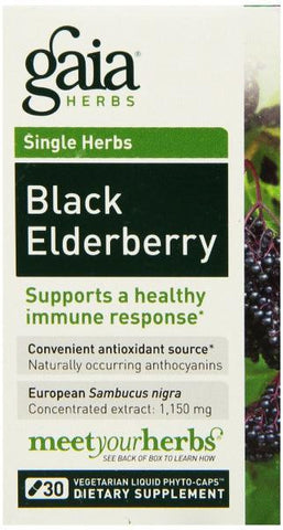 Gaia Black Elderberry - 30 Capsules