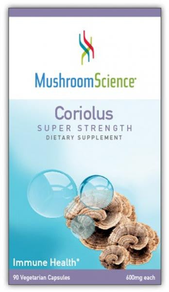 MushroomScience Coriolus Super Strength - 90 Capsules