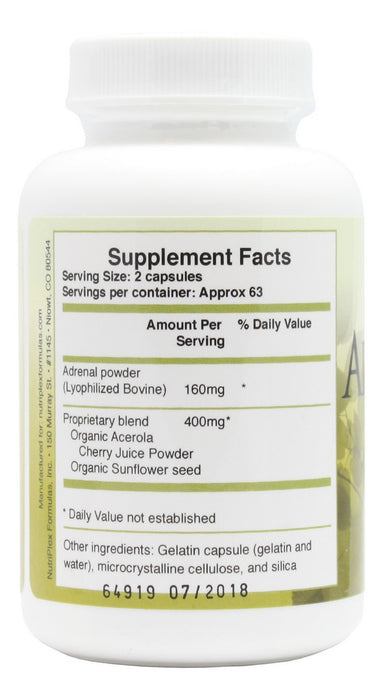 Adrenaplex - 125 Capsules - Supplement Facts