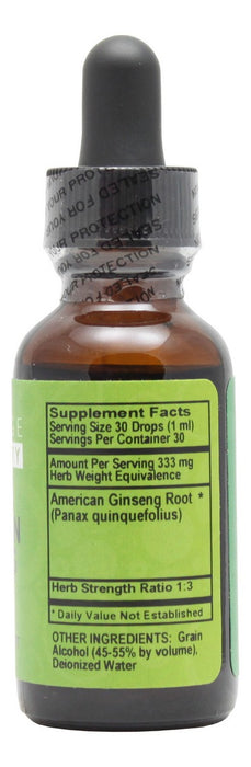 American Ginseng - 1 oz Liquid - Supplement Facts