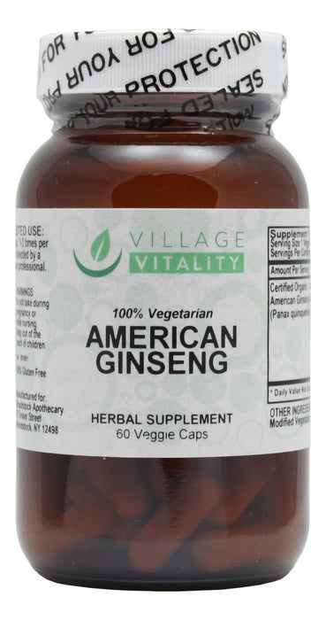 American Ginseng - 60 Capsules - Front