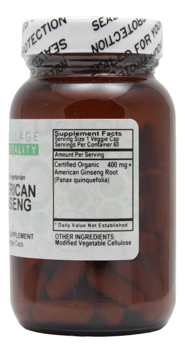 American Ginseng - 60 Capsules - Supplement Facts