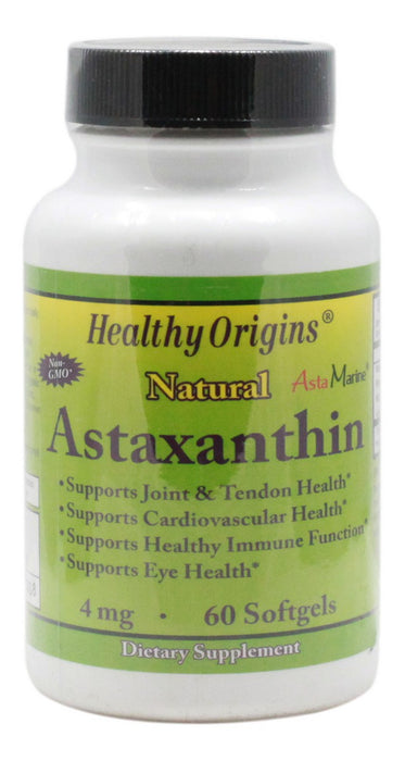 Astaxanthin 4 mg - 60 Softgels - Front