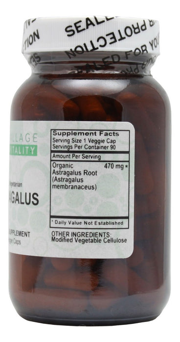 Astragalus Root - 90 Capsules - Supplement Facts