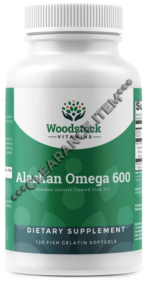Alaskan Omega 600 - 120 Softgels ***CLEARANCE ITEM***