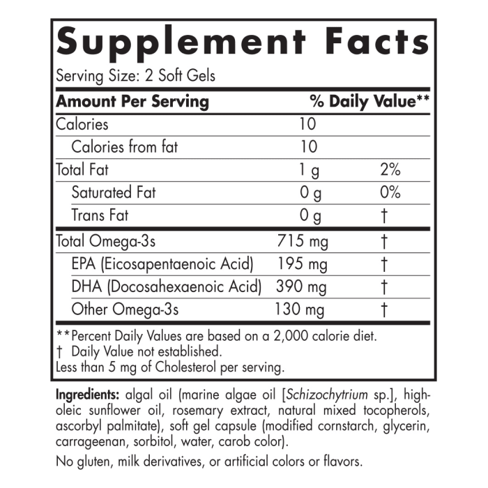 Algae Omega - 60 Softgels