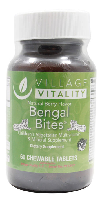 Bengal Bites Chewable- Natural Berry Flavor- 60 Tablets- Front