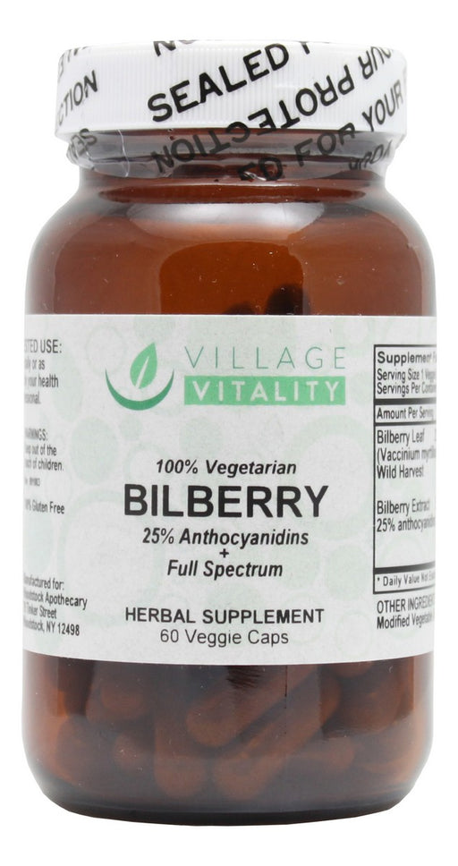 Bilberry- 90 Capsules- Front