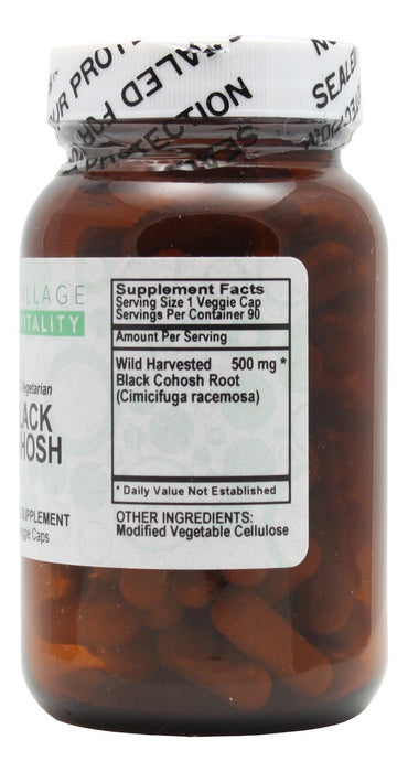 Black Cohosh- 90 Capsules- Supplement Facts