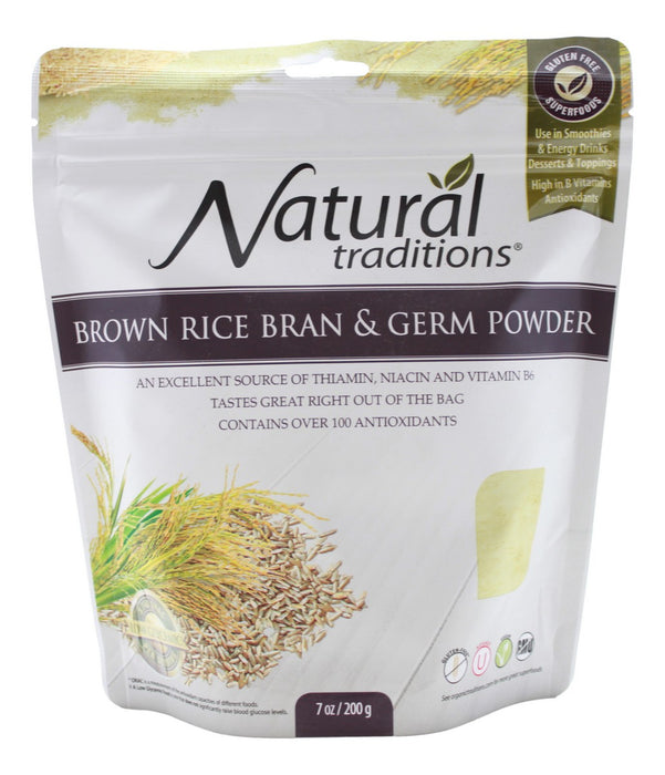 Brown Rice Bran & Germ Powder - 7 oz - Front