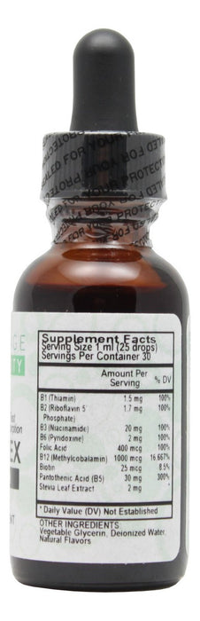 B Complex Liquid Raspberry - 1 oz Liquid - Supplement Facts