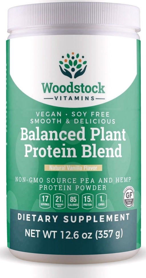 Balanced Plant Protein Blend - Natural Vanilla Flavor - 12.6 oz Powder