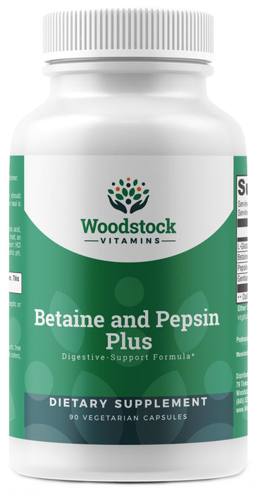 Betaine and Pepsin Plus - 90 Capsules