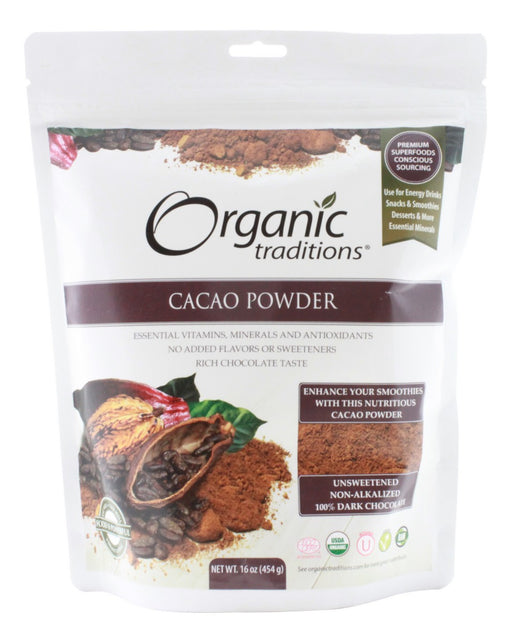 Cacao Powder - 16 oz - Front