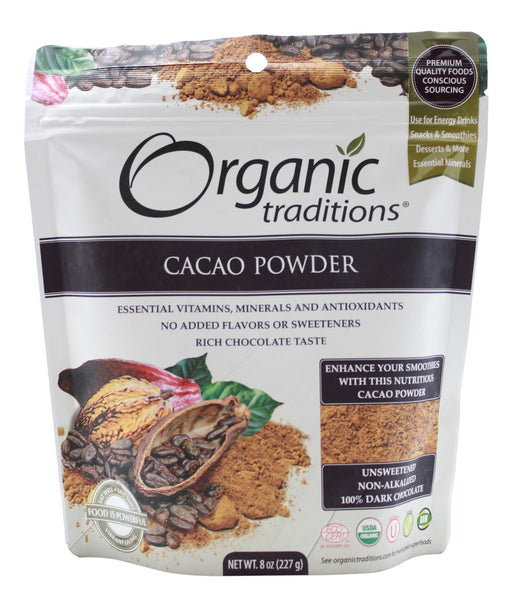 Cacao Powder - 8 oz - Front