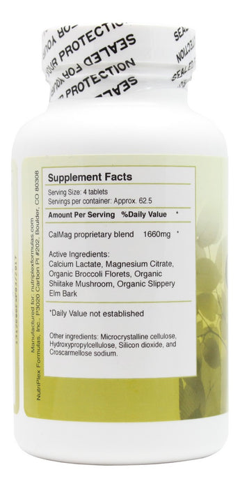 Cal Mag Balance - 250 Tablets - Supplement Facts