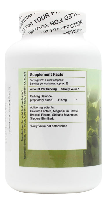 Cal Mag Balance - 8 oz Powder - Supplement Facts