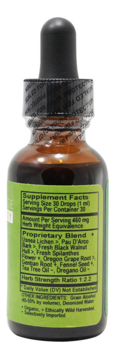 Candida Rescue - 1 oz Liquid - Supplement Facts