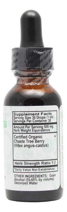 Chaste Tree Berry - 1 oz Liquid - Supplement Facts