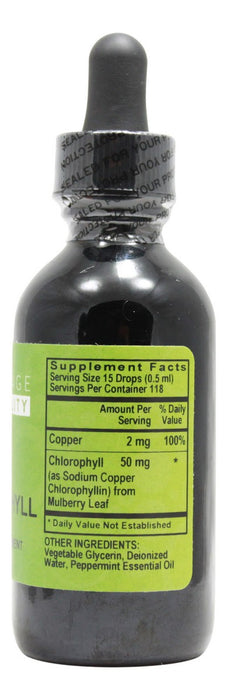 Chlorophyll - 2 fl oz - Supplement Facts