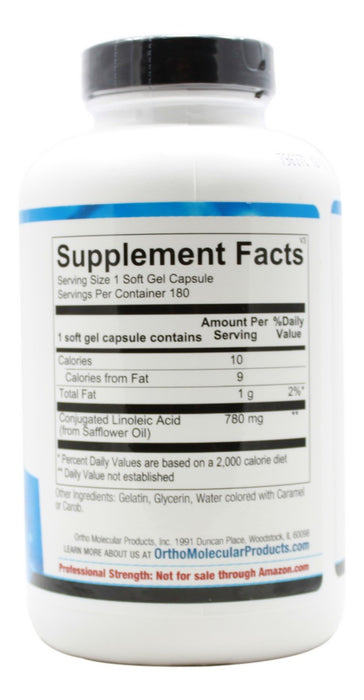 CLA - 180 Softgels - Supplement Facts