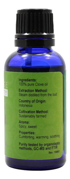 Clove  Bud Essential Oil - 1 oz - Supplement Facts