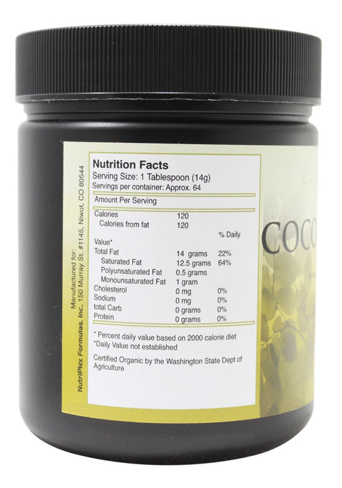 Coconut Butter - 16 oz - Supplement Facts