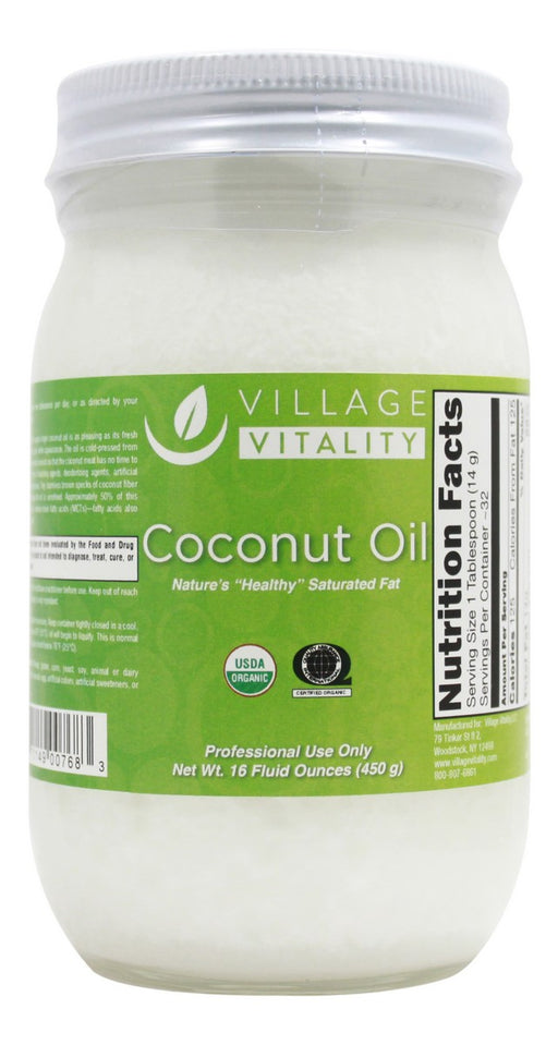 Coconut Oil - 16 oz - Front