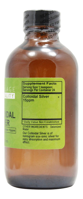 Colloidal Silver - 4 fl oz - Supplement Facts