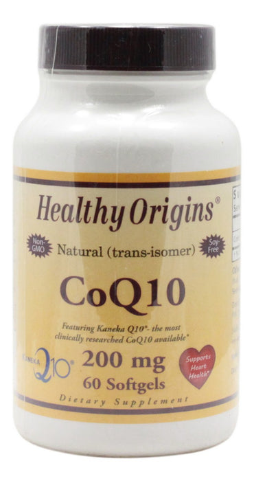 CoQ10 200 mg - 60 Softgels - Front