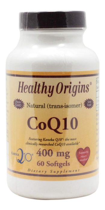 CoQ10 400 mg - 60 Softgels - Front