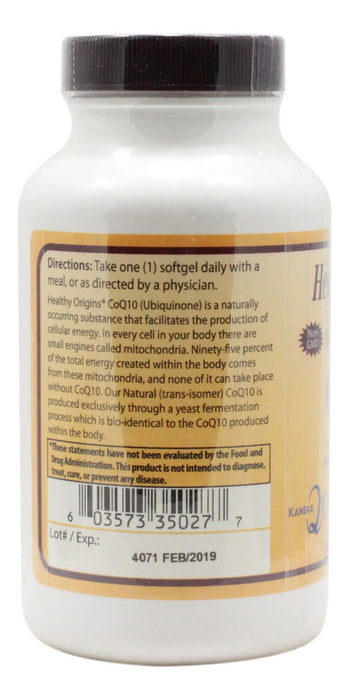 CoQ10 400 mg - 60 Softgels - Information